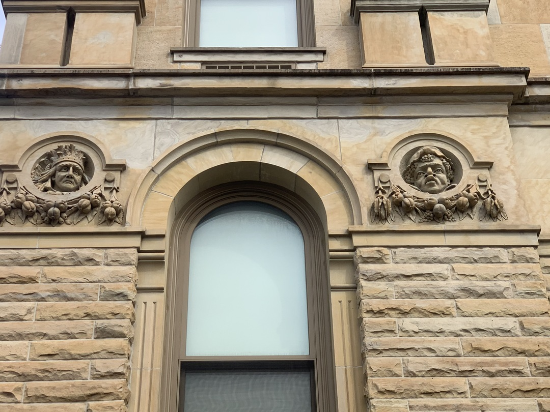 View Western Side of South-Facing Wall Faces, Marion County Courthouse