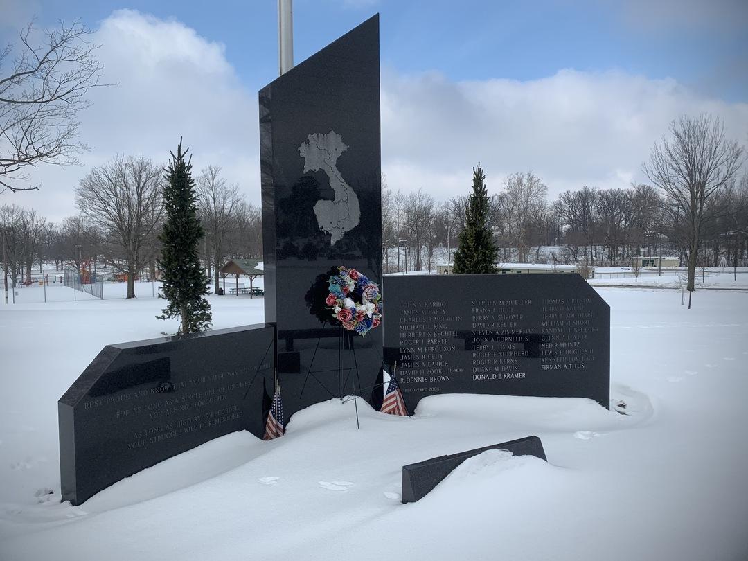 Bellefontaine Vietnam Memorial View 1