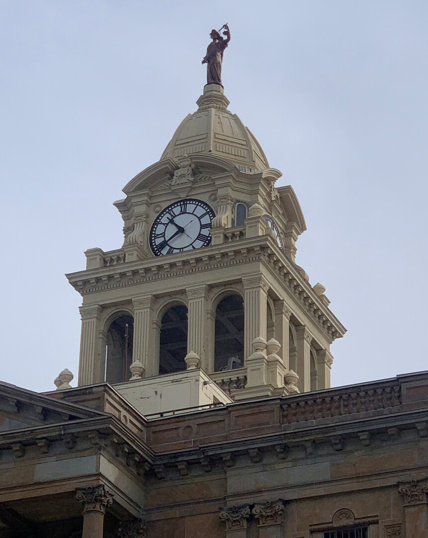 Lady Justice, Marion County Courthouse View 1