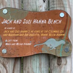 Jack and Suzi Hanna Bench Sign