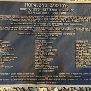 Hopalong Cassidy- Plaque