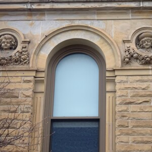 View North Side of West Facing Wall Faces, Marion County Courthouse
