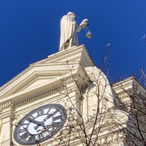 Right Side of Lady Justice, Union County Courthouse
