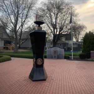 Ohio Fallen Heroes Memorial Eternal Flame Pillar View 3