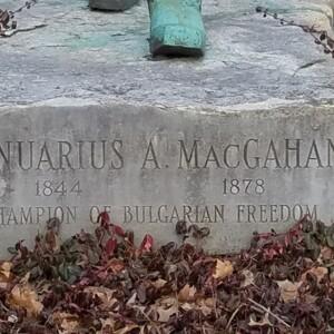 Januarius Aloysius MacGahan Base Inscription
