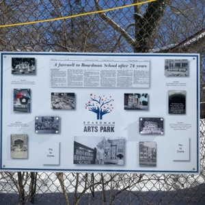 Boardman Arts Park Informational Sign