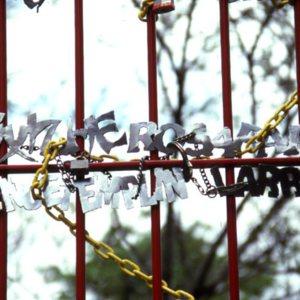 Hudson, Jon B. PEACE WALL & MOON GATE. prison gate close.jpg