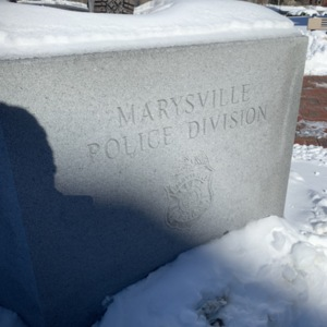 Union County Law Enforcement Memorial Base with Marysville Police Division
