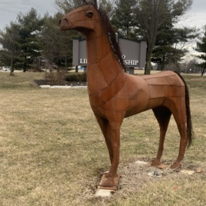 """Liberty Kay"" Mare sculpture"