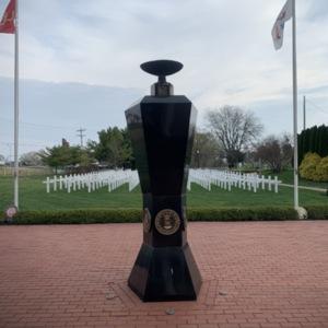 Ohio Fallen Heroes Memorial Eternal Flame Pillar View 1