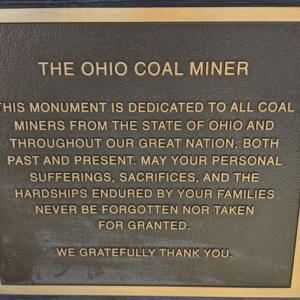 The Ohio Coal Miner- Plaque