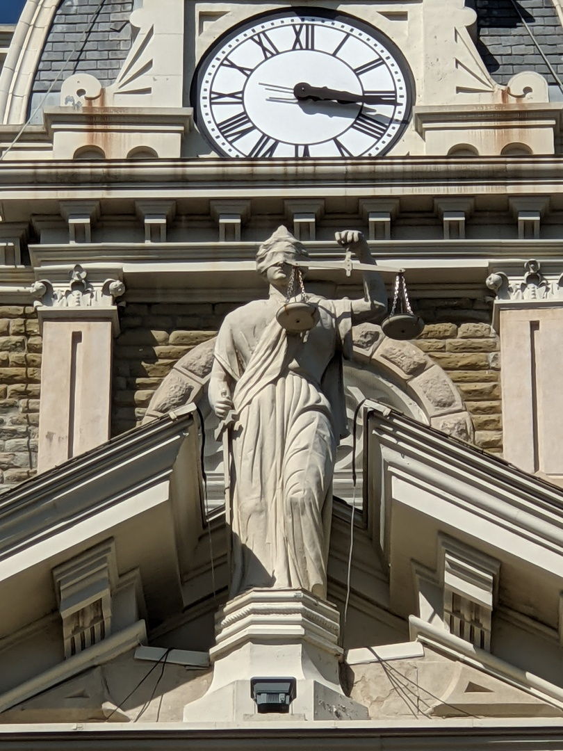 Lady Justice, Guernsey County Courthouse- Full Front