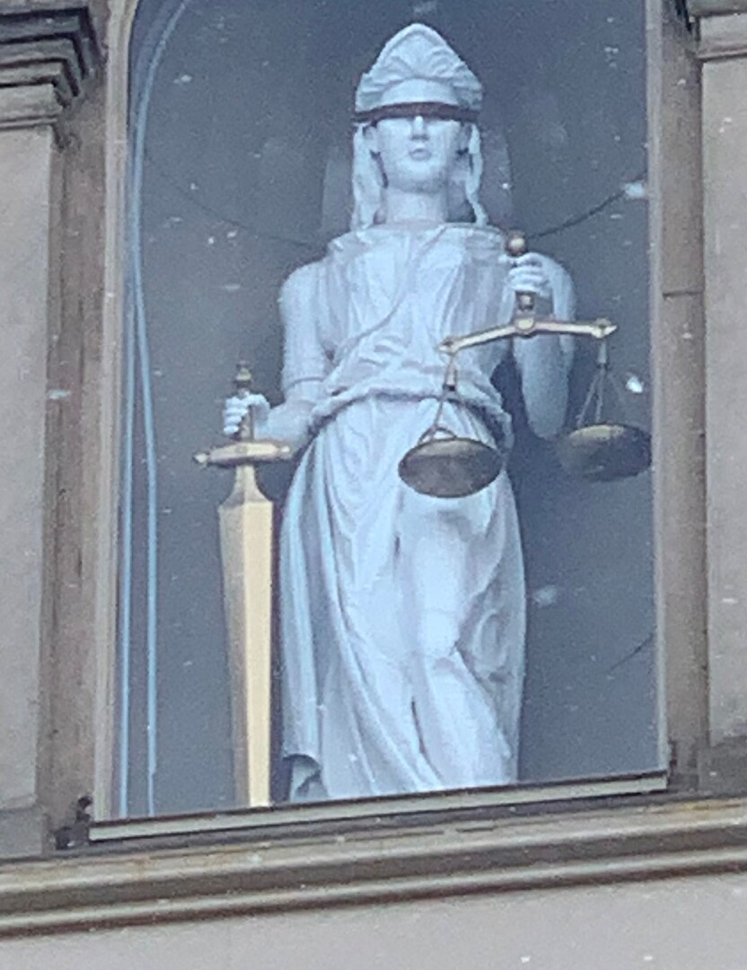 Lady Justice, Logan County Courthouse Close Up