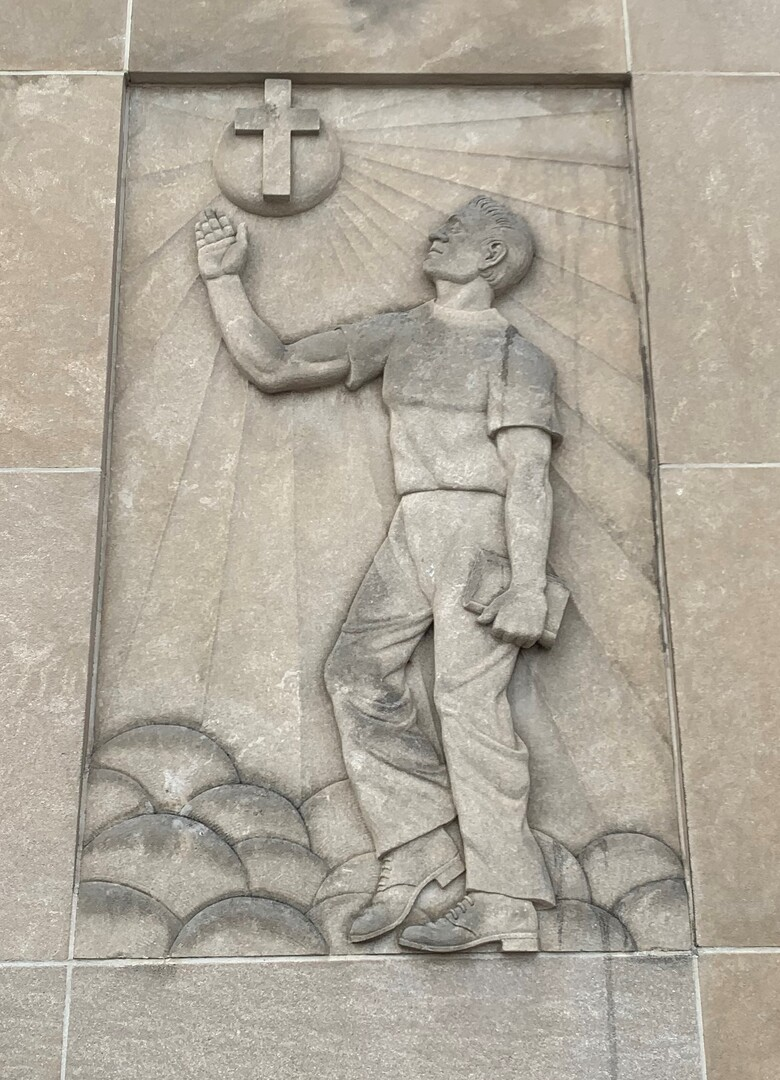 Marion YMCA Wall Relief 1