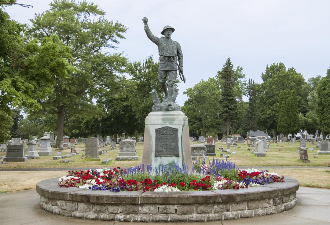 Spirit of the American Doughboy of Fostoria Fountain Cemetery 1.jpg