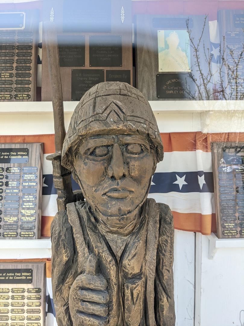Conesville Soldier Memorial- Close-up face