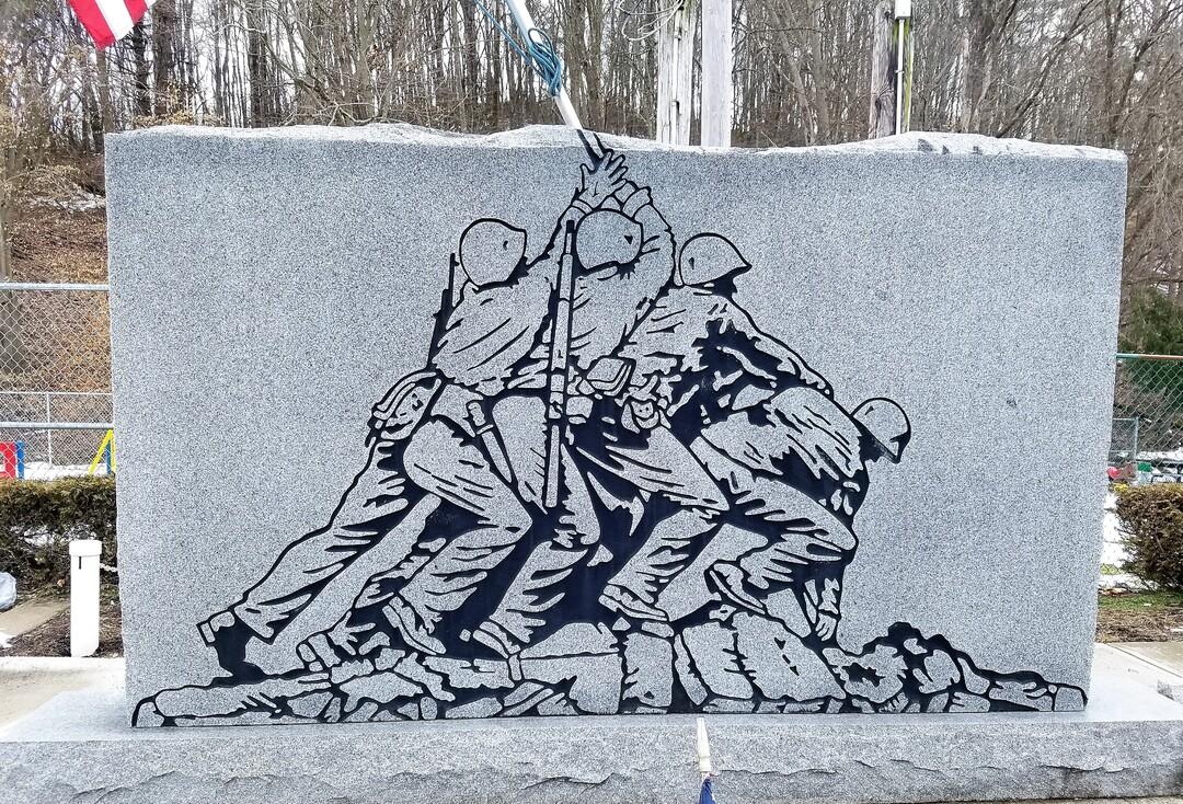 Close-up of Front of Iwo Jima Memorial