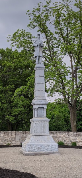 Jerome Township Soldier monument.png