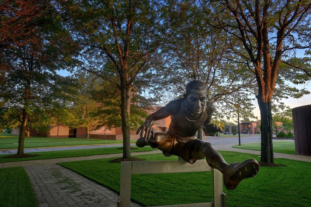 Harrison Dillard statue evening shot 1.jpg