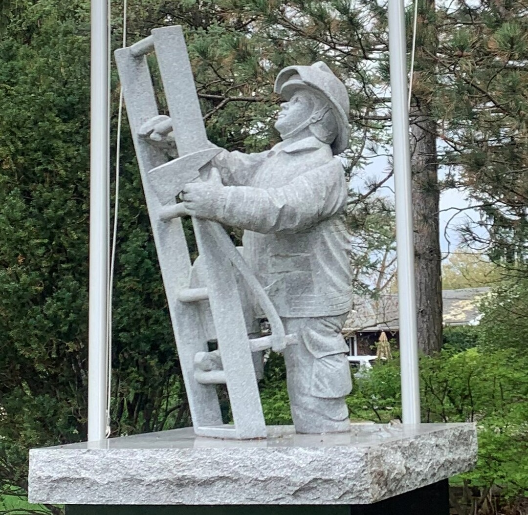 Marion County Firefighters Memorial Close-Up Front View