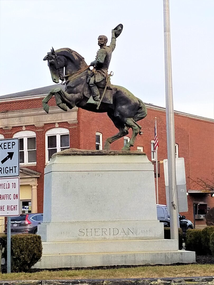 Front of Sheridan Monument