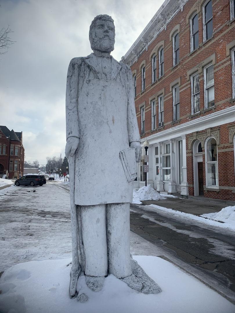 Bartholomew Statue Close Up
