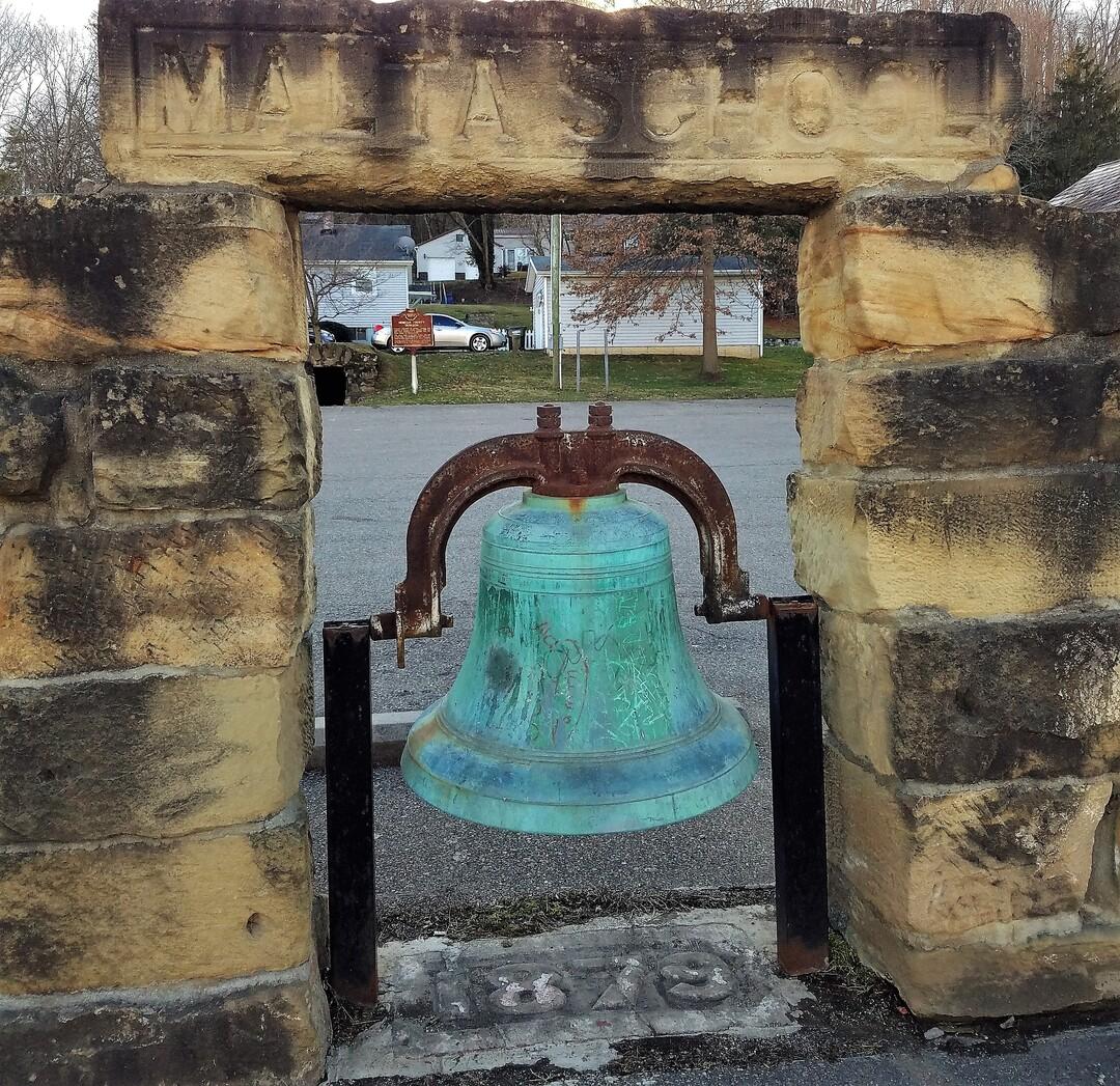 Front View of Malta School Bell