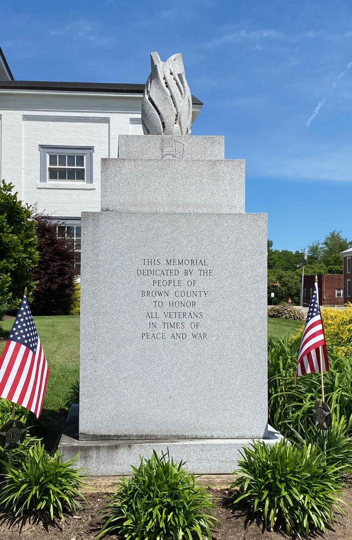 Brown County Vet memorial front.jpeg