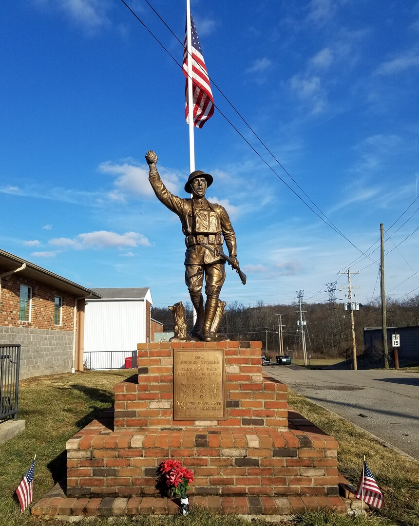 """""""The Spirit of the American Doughboy"""" [Crooksville] Front View"""