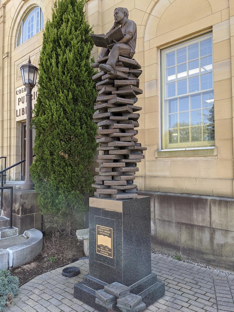 Coshocton Public Library Centennial Statue