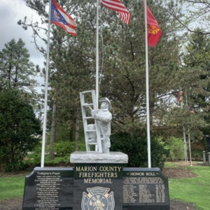 Marion County Firefighters Memorial Full View