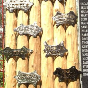 Hudson, Jon B. PEACE WALL & MOON GATE, stockade wall.jpg