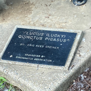 Lucius Lucky plaque.jpeg