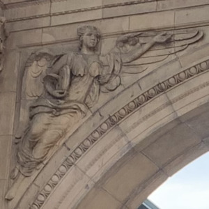Union Station Arch Angel Close Up