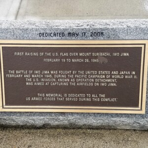 Dedicatory Plaque of Iwo Jima Memorial