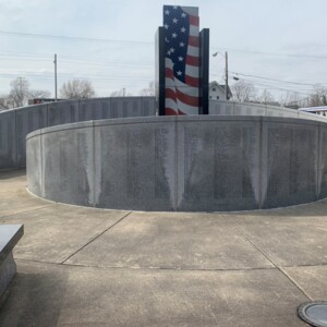 East Side Walls and Shaft, Marion County World War II Veterans Memorial