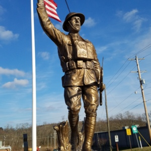 """""""The Spirit of the American Doughboy"""" [Crooksville] Front View Close-up"""