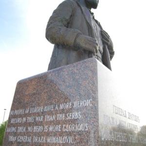 Mihailovich monument at St. Sava Serbian Orthodox Church, Broadview, OH April 29, 2012 A. Rebic.jpg