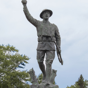 Spirit of the American Doughboy of Fostoria Fountain Cemetery 2.jpg