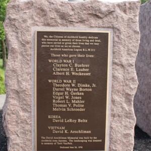 Aeschliman Memorial left stone.JPG