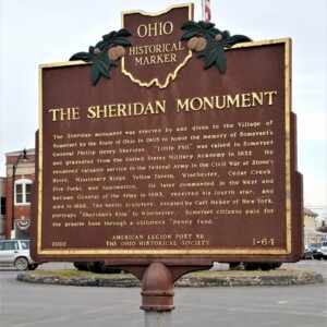 The Sheridan Monument Historical Marker Sign