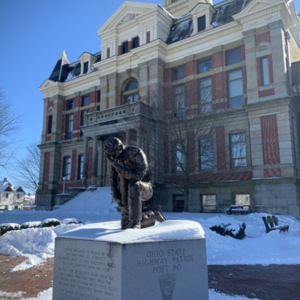 Union County Law Enforcement Memorial with Courthouse