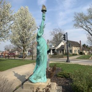 Statue of Liberty Replica Right Side View