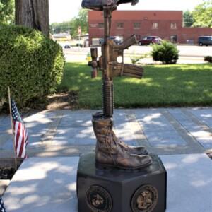 henry Memorial Battle Cross Side.JPG