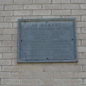 Soldiers Memorial Monument left plaque.JPG
