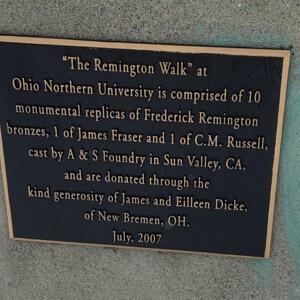 Remington Walk Plaque