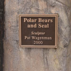 Polar Bears and Seal Plaque