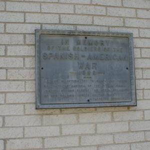 Soldiers Memorial Monument rear plaque.JPG
