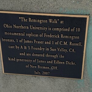 The Remington Walk Plaque