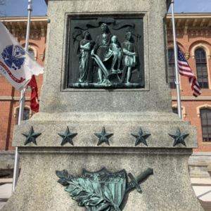 Bronze Decorative Pieces on the Soldiers' Monument, Delaware, OH